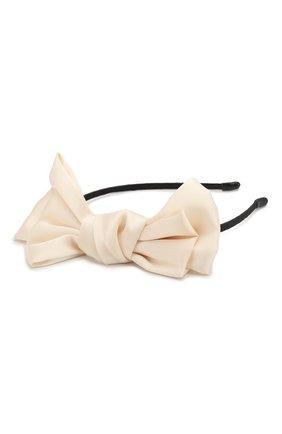 Детская ободок soft bow JUNEFEE бежевого цвета, арт. 6438 | Фото 2