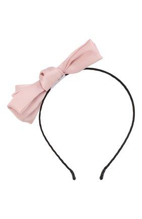 Детская ободок soft bow JUNEFEE бежевого цвета, арт. 6441 | Фото 1