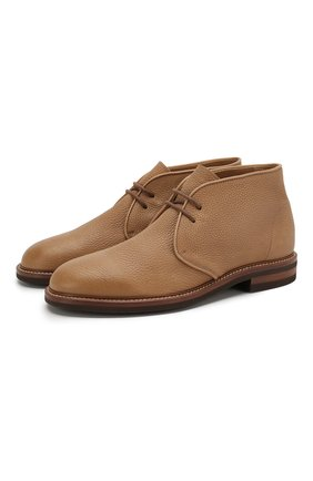 Мужские кожаные ботинки BRUNELLO CUCINELLI бежевого цвета, арт. MZUCCRK192 | Фото 1