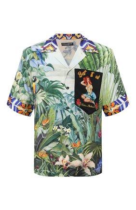 Мужская шелковая рубашка DOLCE & GABBANA разноцветного цвета, арт. G5HM0T/GEN51 | Фото 1