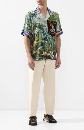 Мужская шелковая рубашка DOLCE & GABBANA разноцветного цвета, арт. G5HM0T/GEN51 | Фото 2
