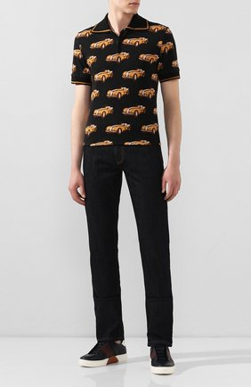 Мужские джинсы CANALI черного цвета, арт. 91717/PD00018 | Фото 2