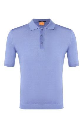 Мужское шелковое поло SVEVO голубого цвета, арт. 3500SE20/MP35 | Фото 1