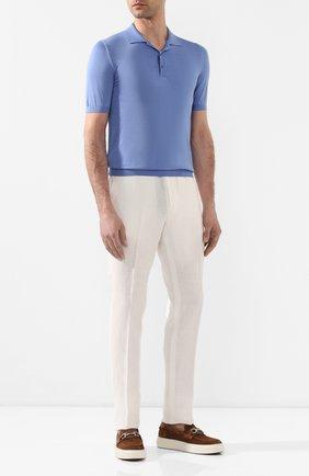Мужское шелковое поло SVEVO голубого цвета, арт. 3500SE20/MP35 | Фото 2