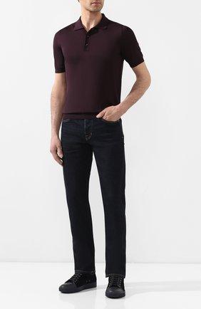 Мужское шелковое поло SVEVO фиолетового цвета, арт. 3500SE20/MP35 | Фото 2