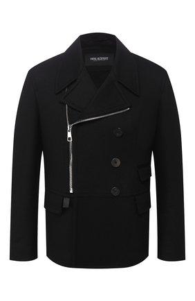 Мужской пальто NEIL BARRETT черного цвета, арт. PBCA337CZ/P017C | Фото 1