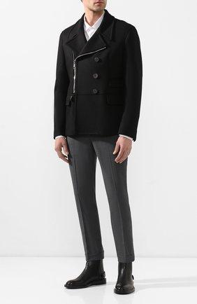 Мужской пальто NEIL BARRETT черного цвета, арт. PBCA337CZ/P017C | Фото 2