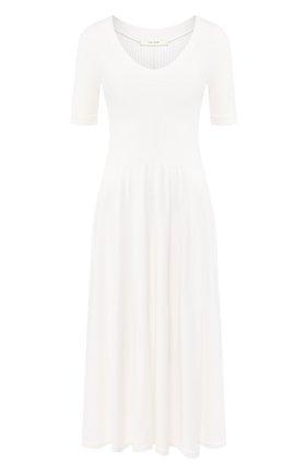 Женское платье из вискозы THE ROW белого цвета, арт. 5152Y443 | Фото 1