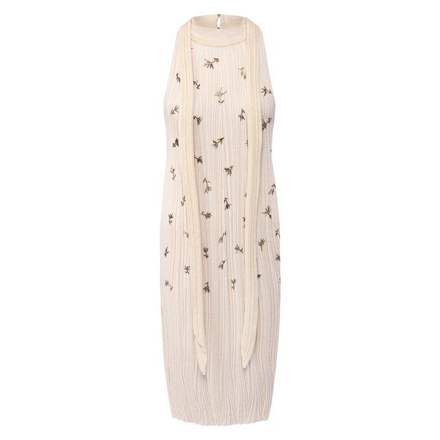 Платье из шелка и хлопка Chloé