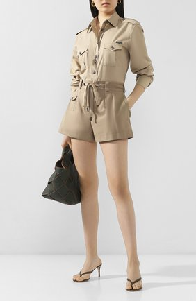 Женские хлопковые шорты DOLCE & GABBANA бежевого цвета, арт. FTBSCT/FU6WF | Фото 2