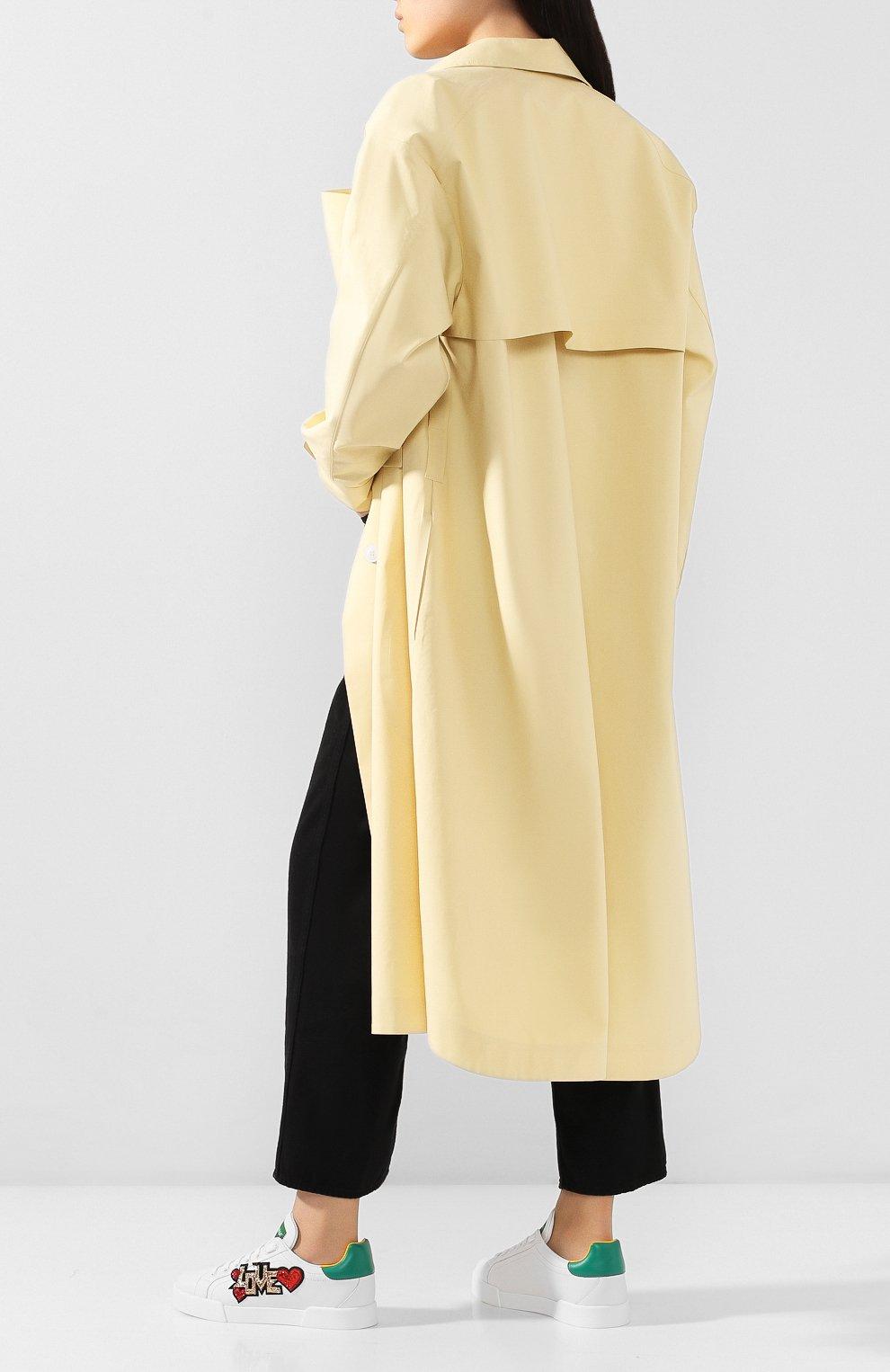 Женские кожаные кеды portofino DOLCE & GABBANA белого цвета, арт. CK1563/AW078 | Фото 2