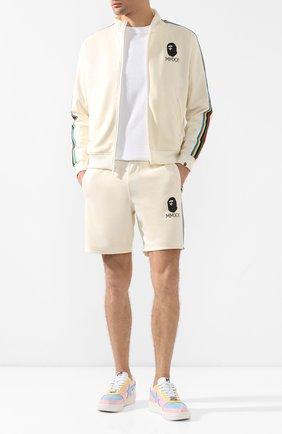 Мужские шорты BAPE бежевого цвета, арт. 1G30153009   Фото 2