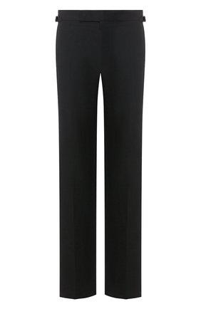 Мужской брюки из хлопка и шелка TOM FORD черного цвета, арт. 774R22/610043 | Фото 1