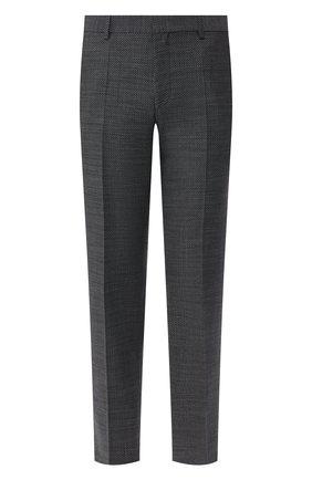 Мужской шерстяные брюки HUGO темно-серого цвета, арт. 50435016 | Фото 1