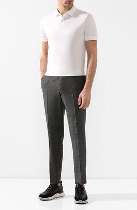 Мужской шерстяные брюки HUGO темно-серого цвета, арт. 50435016 | Фото 2