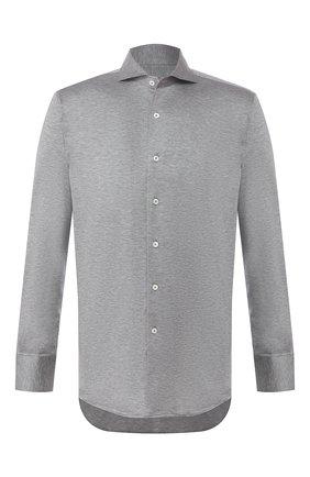 Мужская хлопковая рубашка CANALI серого цвета, арт. L756/GN00845 | Фото 1