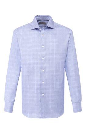 Мужская хлопковая сорочка CANALI синего цвета, арт. 758/GD01960 | Фото 1