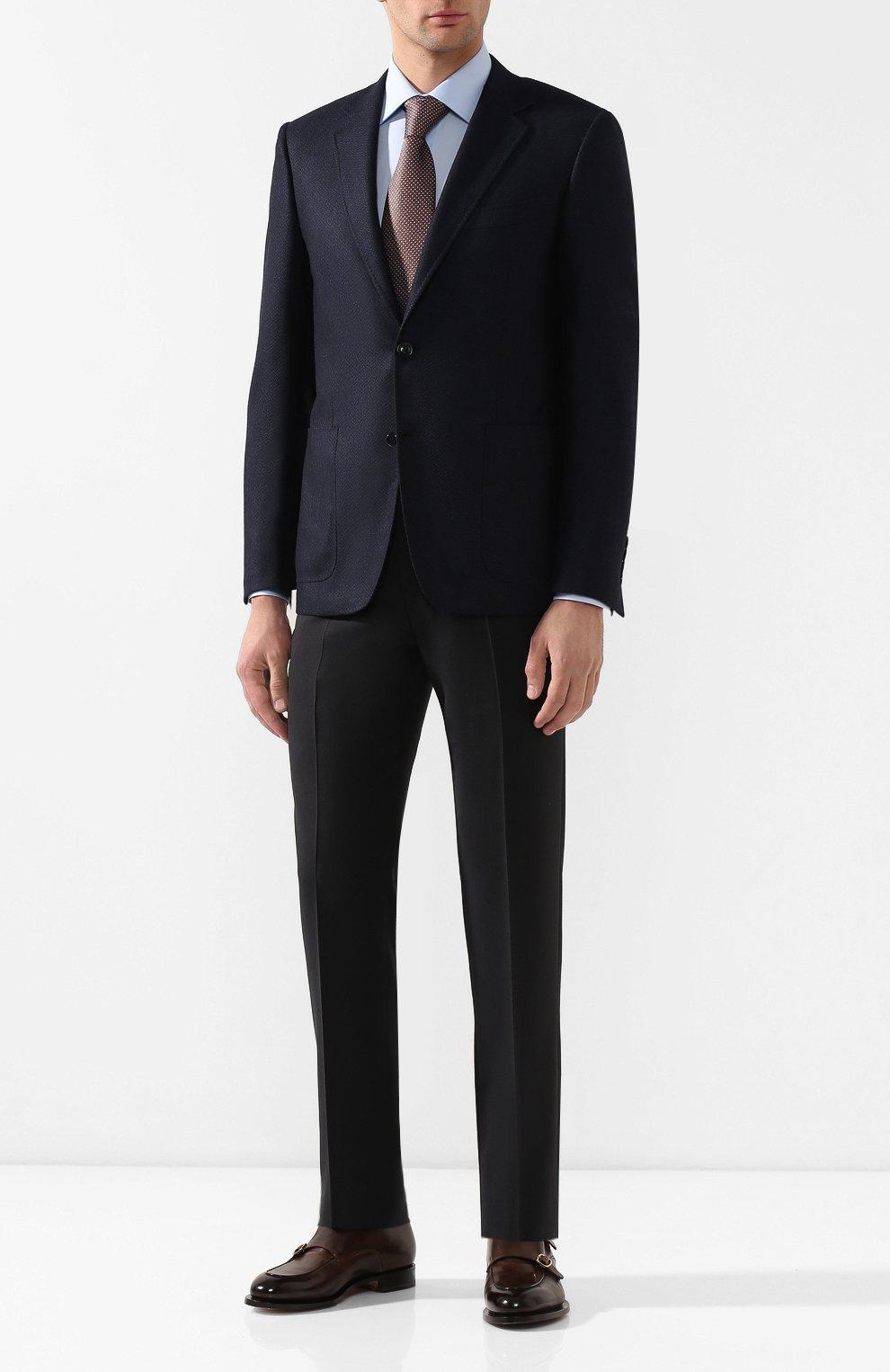 Мужской шерстяной пиджак CANALI темно-синего цвета, арт. 11288/CU02736/112 | Фото 2
