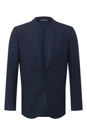 Мужской пиджак из шерсти и кашемира CANALI темно-синего цвета, арт. 11288/CF01756/112 | Фото 1