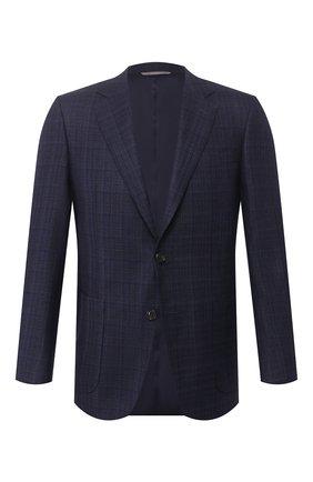 Мужской пиджак из шелка и шерсти CANALI темно-синего цвета, арт. 11288/CF00903/111 | Фото 1
