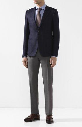 Мужской пиджак из шелка и шерсти CANALI темно-синего цвета, арт. 11288/CF00903/111 | Фото 2