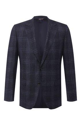 Мужской шерстяной пиджак CANALI темно-синего цвета, арт. 11280/CF01260/112 | Фото 1