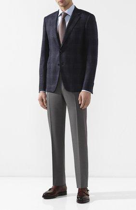 Мужской шерстяной пиджак CANALI темно-синего цвета, арт. 11280/CF01260/112 | Фото 2