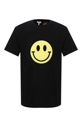 Мужская хлопковая футболка loewe x paula's ibiza LOEWE черного цвета, арт. H616341X87 | Фото 1