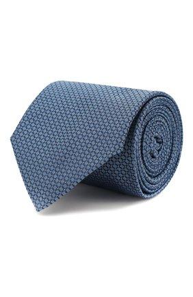 Мужской шелковый галстук HUGO голубого цвета, арт. 50434582 | Фото 1