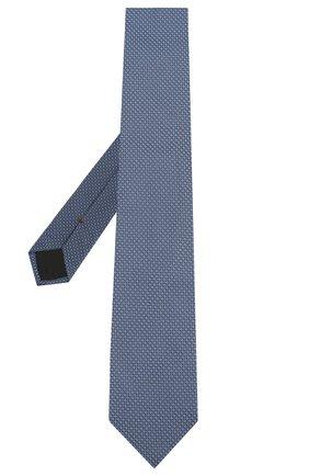 Мужской шелковый галстук HUGO голубого цвета, арт. 50434582 | Фото 2