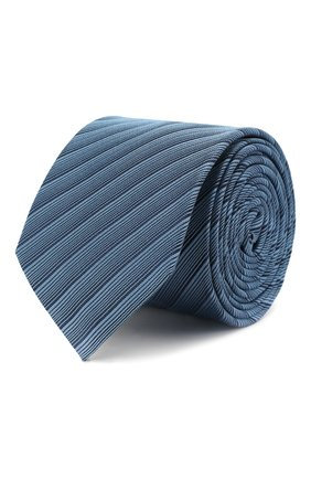 Мужской шелковый галстук HUGO голубого цвета, арт. 50434550 | Фото 1