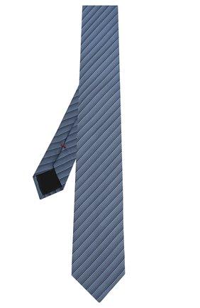 Мужской шелковый галстук HUGO голубого цвета, арт. 50434550 | Фото 2