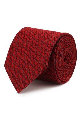 Мужской шелковый галстук HUGO красного цвета, арт. 50434554 | Фото 1