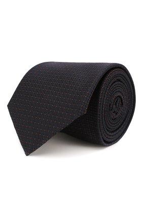 Мужской шелковый галстук HUGO темно-синего цвета, арт. 50434582 | Фото 1