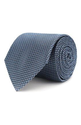 Мужской шелковый галстук HUGO голубого цвета, арт. 50434576 | Фото 1