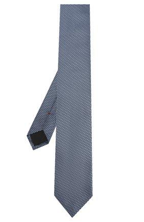 Мужской шелковый галстук HUGO голубого цвета, арт. 50434576 | Фото 2