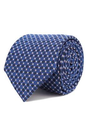 Мужской шелковый галстук BOSS синего цвета, арт. 50434739 | Фото 1