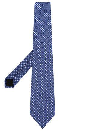 Мужской шелковый галстук BOSS синего цвета, арт. 50434739 | Фото 2