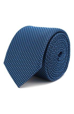 Мужской шелковый галстук BOSS синего цвета, арт. 50434421 | Фото 1