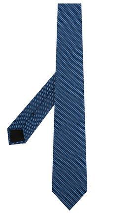 Мужской шелковый галстук BOSS синего цвета, арт. 50434421 | Фото 2