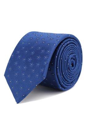 Мужской шелковый галстук BOSS синего цвета, арт. 50434395 | Фото 1