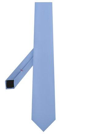 Мужской шелковый галстук HUGO голубого цвета, арт. 50324569 | Фото 2