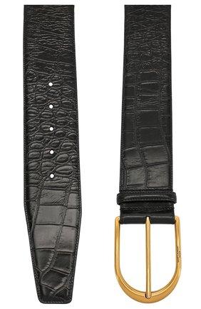 Женский кожаный ремень SAINT LAURENT черного цвета, арт. 619783/1SR0W | Фото 2