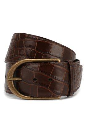 Женский кожаный ремень SAINT LAURENT коричневого цвета, арт. 619783/06A0B | Фото 1