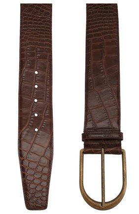 Женский кожаный ремень SAINT LAURENT коричневого цвета, арт. 619783/06A0B | Фото 2