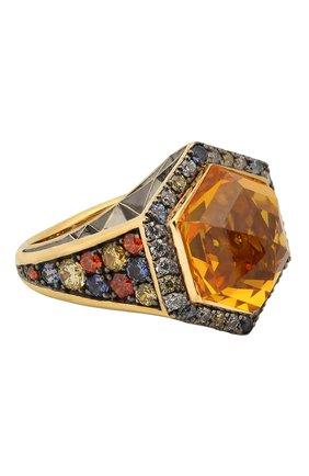 Женское кольцо QUEENSBEE разноцветного цвета, арт. 102398/9,14   Фото 1