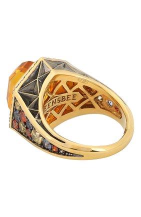 Женское кольцо QUEENSBEE разноцветного цвета, арт. 102398/9,14   Фото 2
