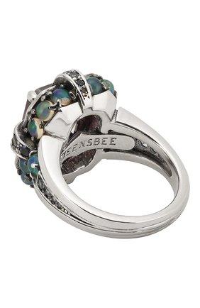 Женское кольцо QUEENSBEE разноцветного цвета, арт. 101374/14,20   Фото 2
