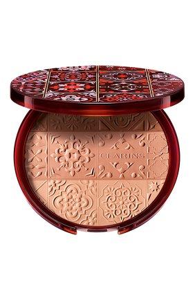Женская коллекционная бронзирующая пудра bronzing compact CLARINS бесцветного цвета, арт. 80061535 | Фото 1