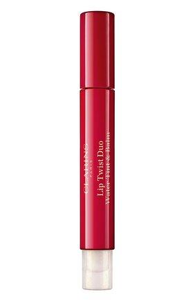 Женский двусторонний фломастер-бальзам для губ lip twist duo, 01 CLARINS бесцветного цвета, арт. 80061543 | Фото 1